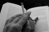 papieros, książka