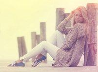 kobieta, moda, buty