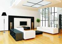 Nowoczesna aranżacja salonu z użyciem  lamp podłogowych Toro
